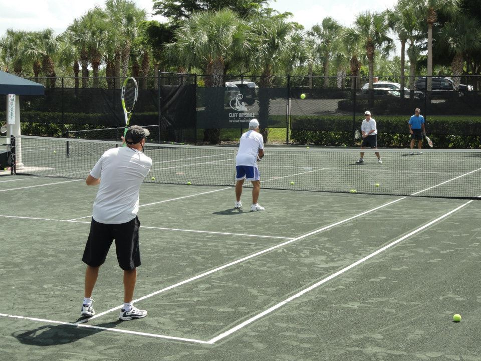 Group Men's Tennis Clinic with Traveling Tennis Pros. - Arbor Greene - Tampa, Florida