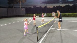 Coach Sara Traveling Tennis Pros Ten and Tennis Under Clinic in Fort Myers